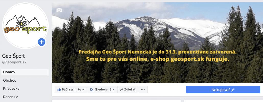 predajna Geo Sport zatvorena